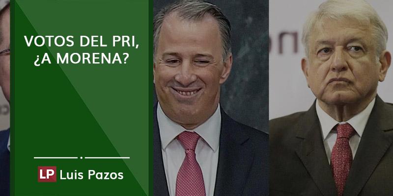 Votos del PRI, ¿a MORENA?