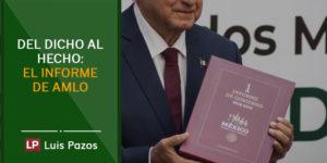 Del dicho al hecho: el informe de AMLO