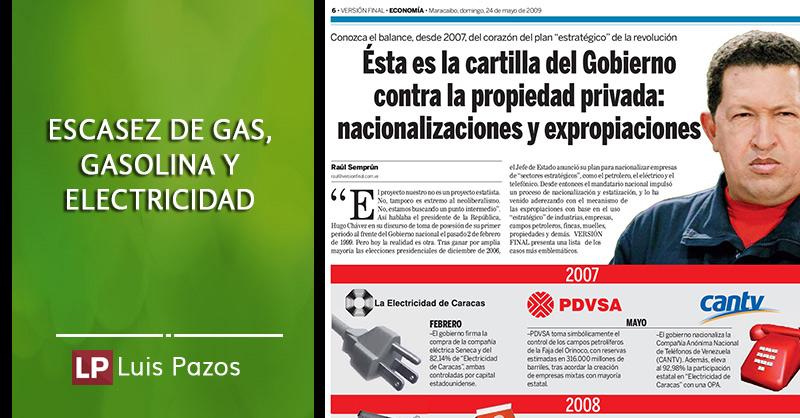 escasez de gas electricidad gasolina